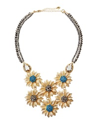 Lydell Nyc Golden Flower Bib Statement Necklace