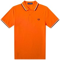 Fred Perry Authentic Twin Tipped Polo Orange