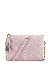 Gigi New York Hailey Leather Crossbody Bag White Petal Pink