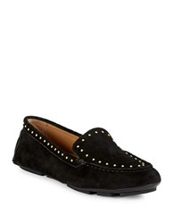 Calvin Klein Lolly Studded Suede Loafers Black