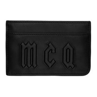 Mcq By Alexander Mcqueen Black Logo Card Holder