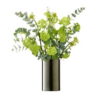 Lsa International Flower Cylinder Vase Lantern 25Cm Platinum
