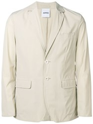 Aspesi Fitted Blazer Neutrals