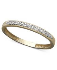 Macy's 14K White Yellow Or Rose Gold Ring Pave Diamond Accent Band