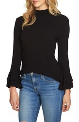 1.State Women's Bell Sleeve Top Rich Black