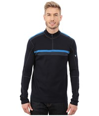 Kuhl Downhill Racr 1 4 Zip Pirate Blue Men's Long Sleeve Pullover