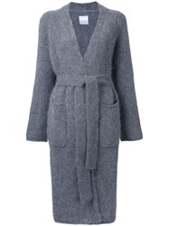 Cityshop Long Belted Cardigan Grey