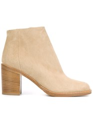 Paul Andrew Zipped Ankle Boots Nude Neutrals