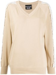 Boutique Moschino Lace Embellished Relaxed Fit Jumper 60