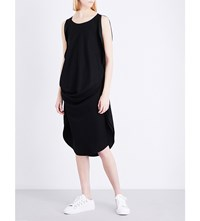Limi Feu Draped Gabardine Dress Black