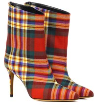Alexandre Vauthier Alex Checked Boots Multicoloured