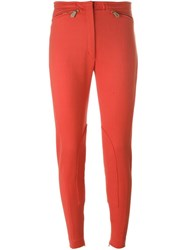 Hermes Herma S Vintage Tapered Trousers Yellow And Orange