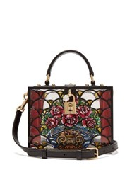 Dolce And Gabbana Hand Painted Perspex Bag Black Multi