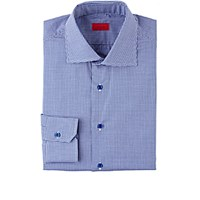 Isaia Men's Gingham Shirt Navy