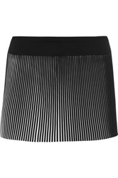 Monreal London Plisse Jersey Tennis Skirt Black