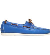 Ralph Lauren Telford Leather Boat Shoes Navy