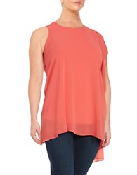 Vince Camuto Plus Asymmetrical Crepe Tunic Red