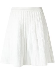 Egrey A Line Knit Skirt White