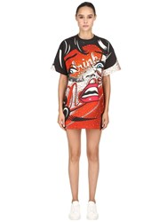 Moschino Eyes Printed Jersey T Shirt Dress Multicolor