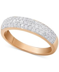 Macy's Diamond Pave Ring 1 2 Ct. T.W. In Sterling Silver 18K Gold Plated Sterling Silver Or 18K Rose Gold Plated Sterling Silver