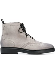 Doucal's Ankle Lace Up Boots Grey