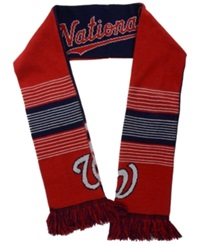 Forever Collectibles Washington Nationals Reversible Split Logo Scarf Red