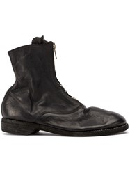 Guidi Zipped Ankle Boots Black