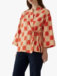 Toast Honeycomb Print Wrap Top Spiced Orange