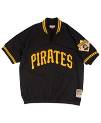 Mitchell And Ness Men's Pittsburgh Pirates Bp Mesh Jersey Top Black Gold
