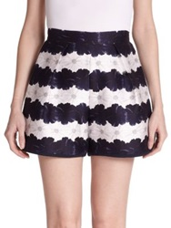 Mother Of Pearl Addison Flower Striped Shorts Bloom Stripe