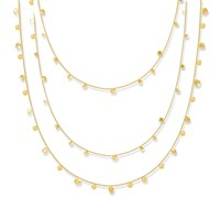Lily Flo Jewellery Stardust Scattered Stars Triple Strand Layered Necklace Gold