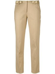 Michael Michael Kors Slim Fit Cropped Trousers Nude Neutrals