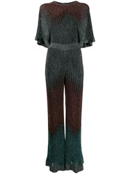 M Missoni Ribbed Lurex Jumpsuit Blue