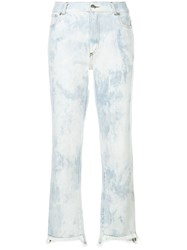 Each X Other Bleached Cropped Jeans Blue