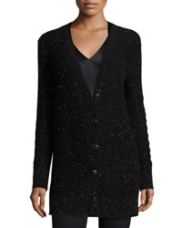 Rag And Bone Tamara Cashmere Donegal Cardigan Black