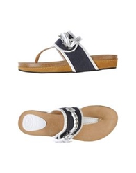 Scholl Thong Sandals Dark Blue