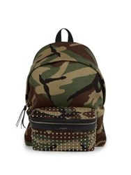 Saint Laurent Studded Camouflage Hunting Backpack