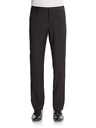 Saks Fifth Avenue Red Trim Fit Woven Trousers Black