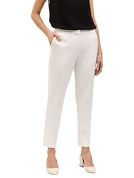 Jaeger Cropped Stretch Trousers Ivory