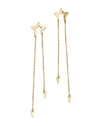 Moon And Meadow Star Arrow Chain Drop Earrings In 14K Yellow Gold 100 Exclusive