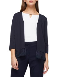 Jacques Vert Lace Trim Cardigan Navy