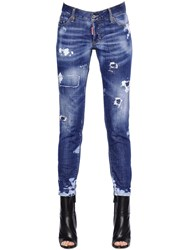 Dsquared Jennifer Destroyed Stretch Denim Jeans