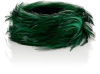 Dries Van Noten Women's Feather Choker Green