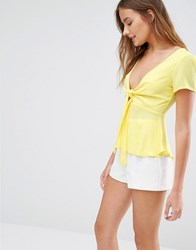Love Bow Front Top Yellow