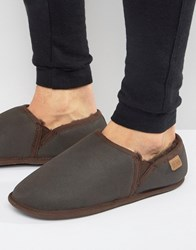 Just Sheepskin Hoxton Slippers Brown