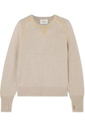Bassike Linen And Cotton Blend Sweater Taupe