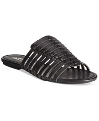American Rag Paige Woven Flat Sandals Only At Macy's Women's Shoes Black