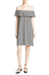Kate Spade Women's New York Stripe Knit Off The Shoulder Dress