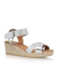 Kurt Geiger London Libby Wedge Sandals Female Silver