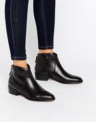 Dune Pearcey Back Zip Low Boots Black